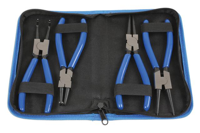 Laser Tools Circlip Plier Set 4 Pce 6686 Zipped Storage Wallet