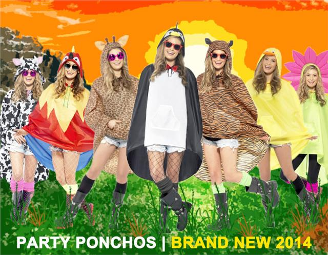 Flower Party Poncho Festival Costume 27607