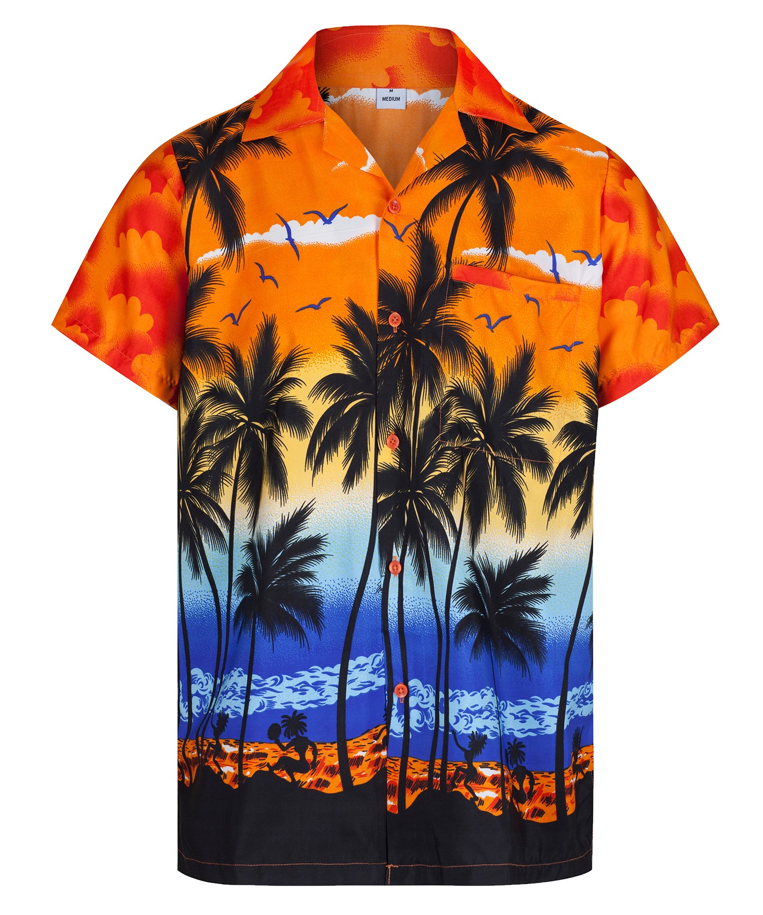 Mens Hawaiian Shirt Aloha Hawaii Themed Party Shirt