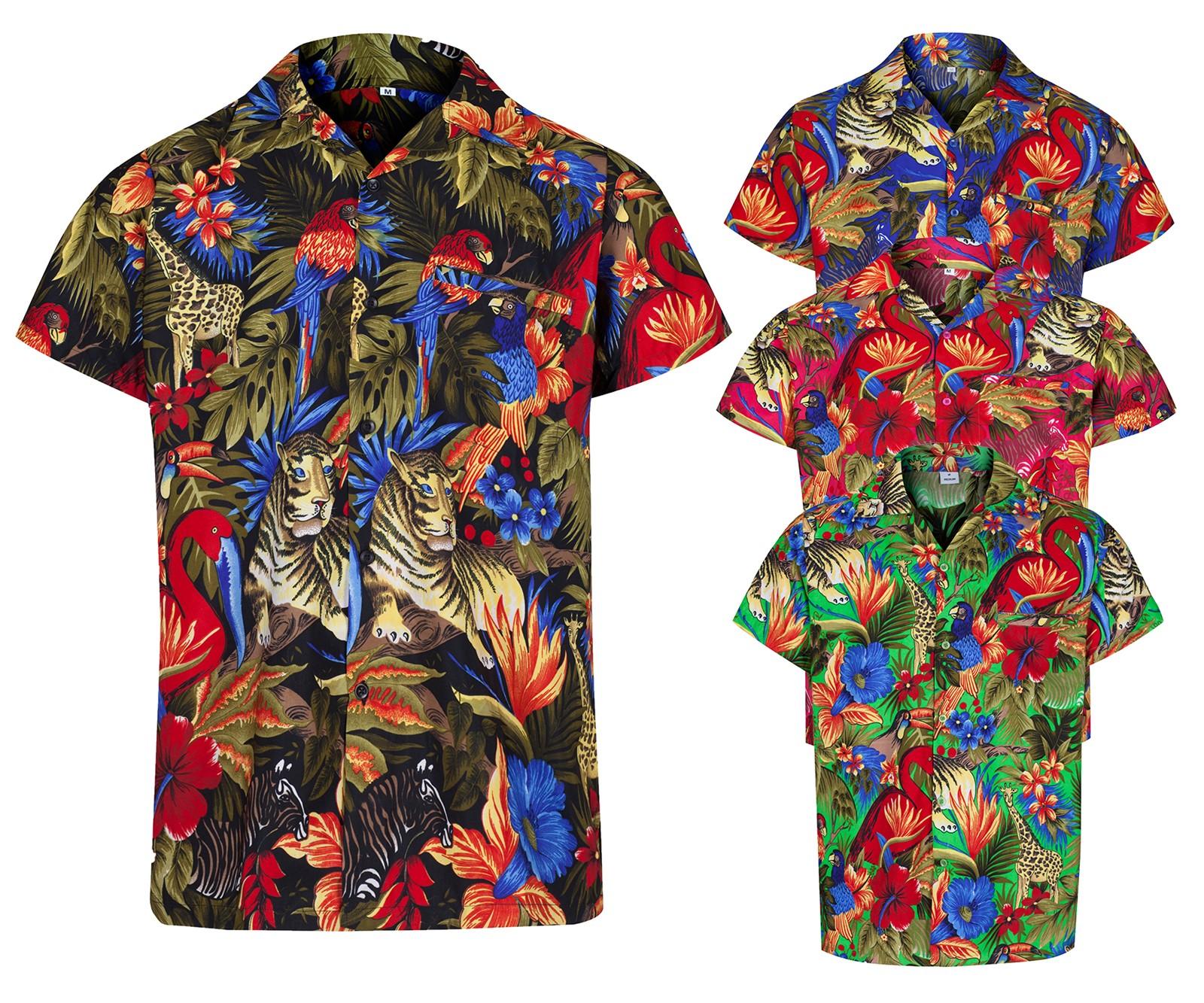 Mens hawaiian shirt aloha hawaii themed party shirt for Hawaiian shirt fancy dress