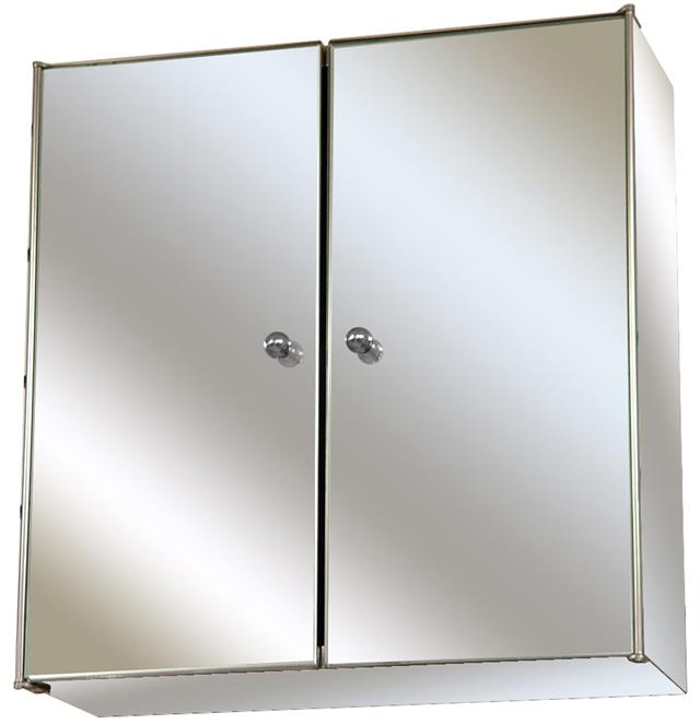 Mirrored wall mounted stainless steel cabinet home - Wall mounted mirrored bathroom cabinet ...
