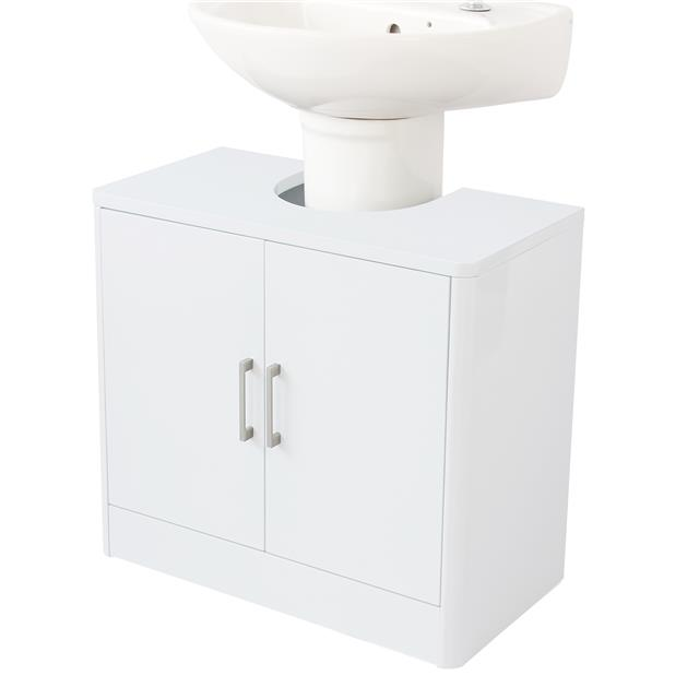 Stupendous Details About Modern White Under Sink Bathroom Storage Cabinet Cupboard Vanity Unit Undersink Home Interior And Landscaping Ologienasavecom