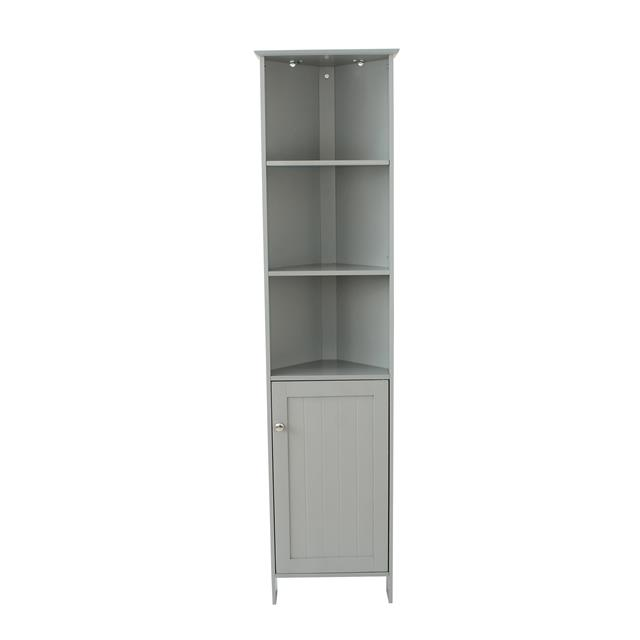 Grey Bathroom Tall Corner Storage Display Cabinet Unit Bedroom Furniture Shelves Ebay