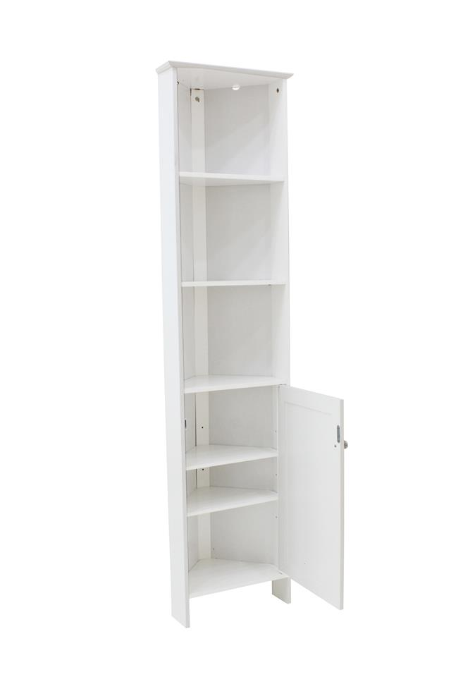 White Bathroom Corner Storage Display Cabinet Unit Bedroom Furniture Shelves Ebay