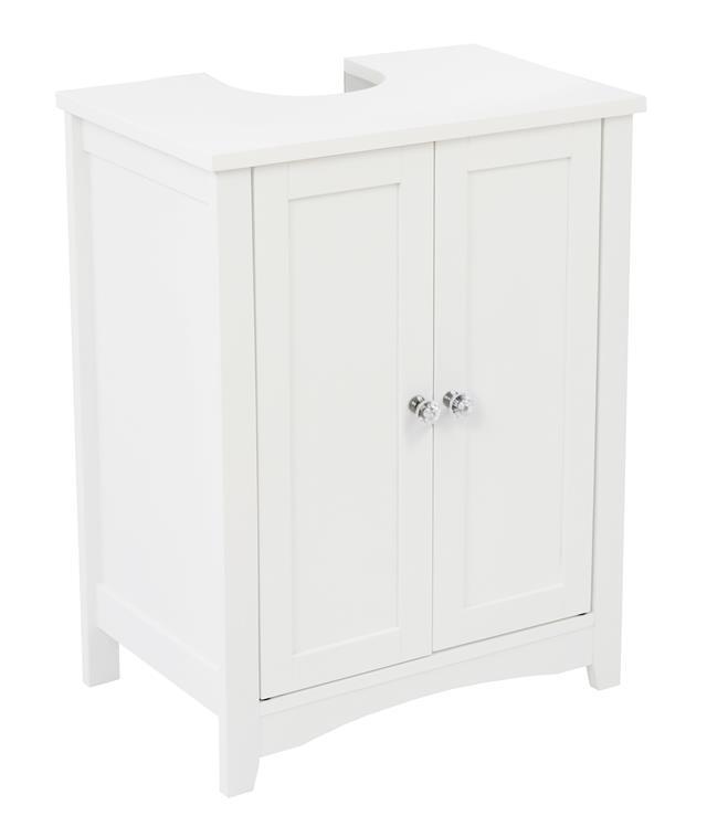 Somerset White Under Sink Bathroom Underbasin Storage