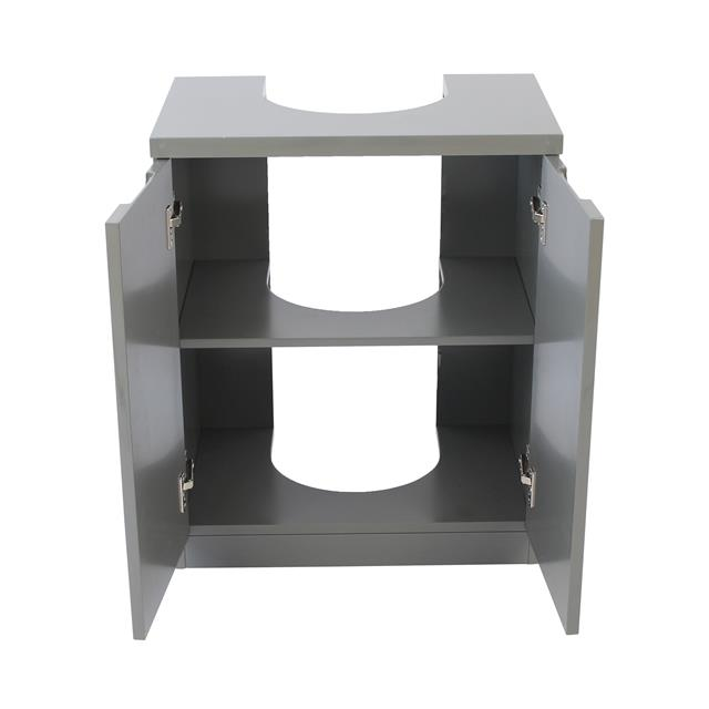 Grey high gloss bathroom furniture