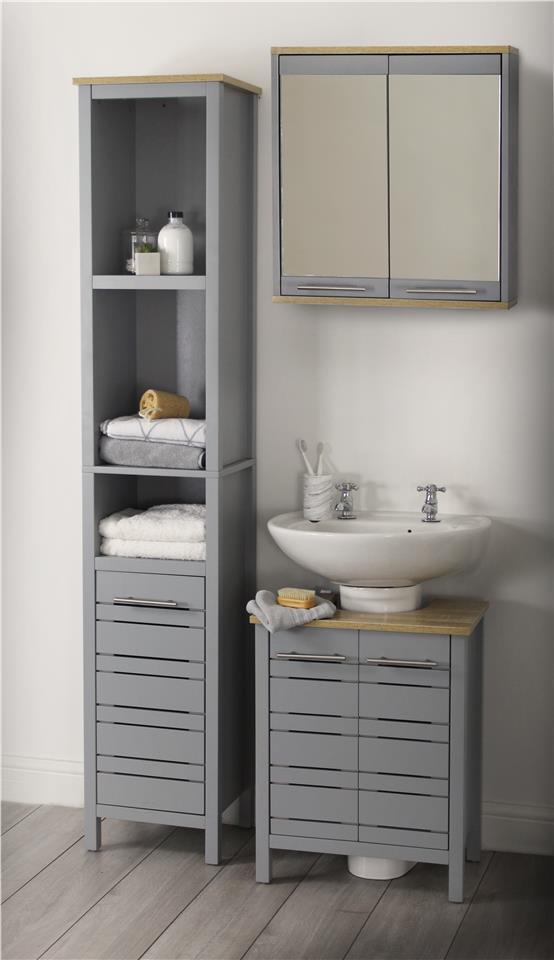 Eden Modern Grey Bathroom Furniture Range Suite Under Sink Cabinet Storage Ebay