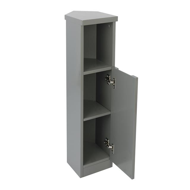 Superb Details About Grey White Gloss Corner Storage Unit Cabinet Cupboard Shelf Bathroom Furniture Home Interior And Landscaping Mentranervesignezvosmurscom
