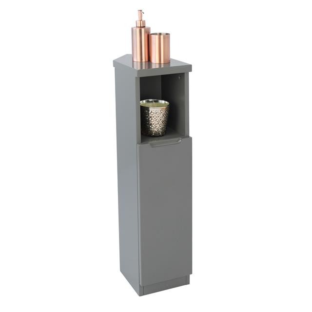 Grey High Gloss Tall Corner Bathroom Living Home Storage Cabinet Cupboard Unit 5060469950976 Ebay