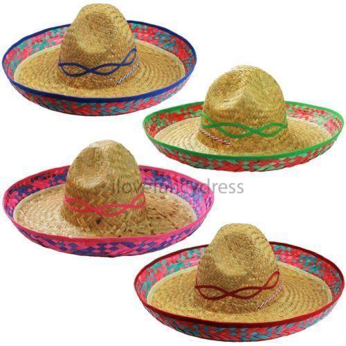 48 X Mexikanische Sombrero Hute Wilder Westen Bandit Kostum Gruppe