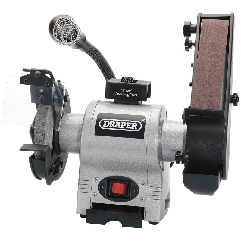 Draper 05096 150mm Bench Grinder With Sanding Belt And