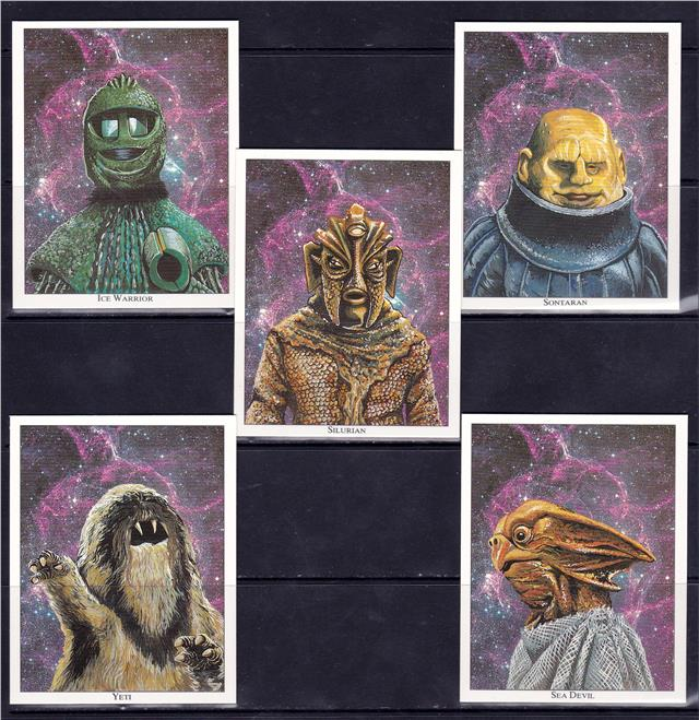 Doctor Who 30th Anniversary Collectors Artwork Cards Set of 20 Pristine !!