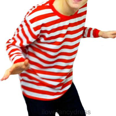 MENS-RED-WHITE-STRIPED-TOP-LONG-SLEEVE-GREAT-FOR-FANCY-DRESS-S-M-L-XL-XXL