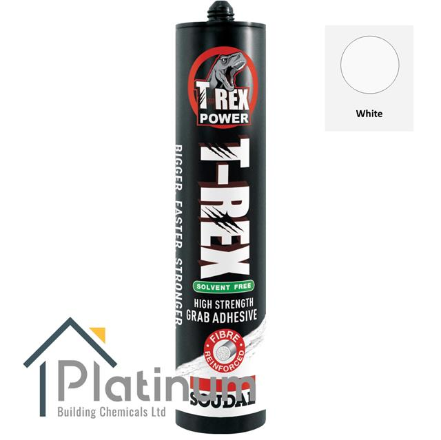 Soudal T Rex SOLVENT FREEFibre Reinforced Super High Strength Adhesive Glue