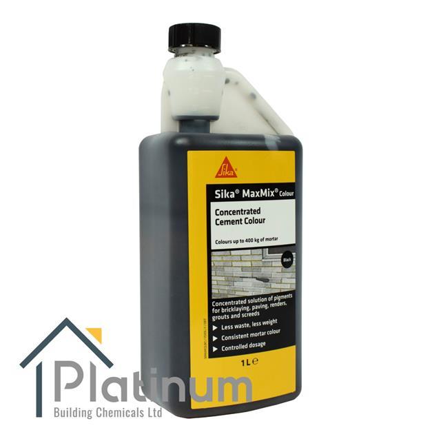 Details about Sika MAXMIX Cement Colour - 1L Concentrate | Liquid Mortar  Tone Render Concrete