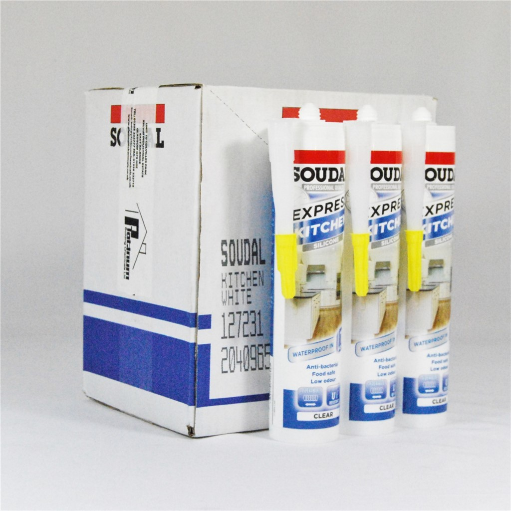 SOUDAL EXPRESS KITCHEN SILICONE SEALANT - NEUTRAL CURE ANTI MOULD ...