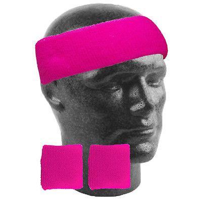 NEON Cerchietto Fascia elastica polsiera Costume Tutu Bretelle Neon Guanti 80 S Gallina