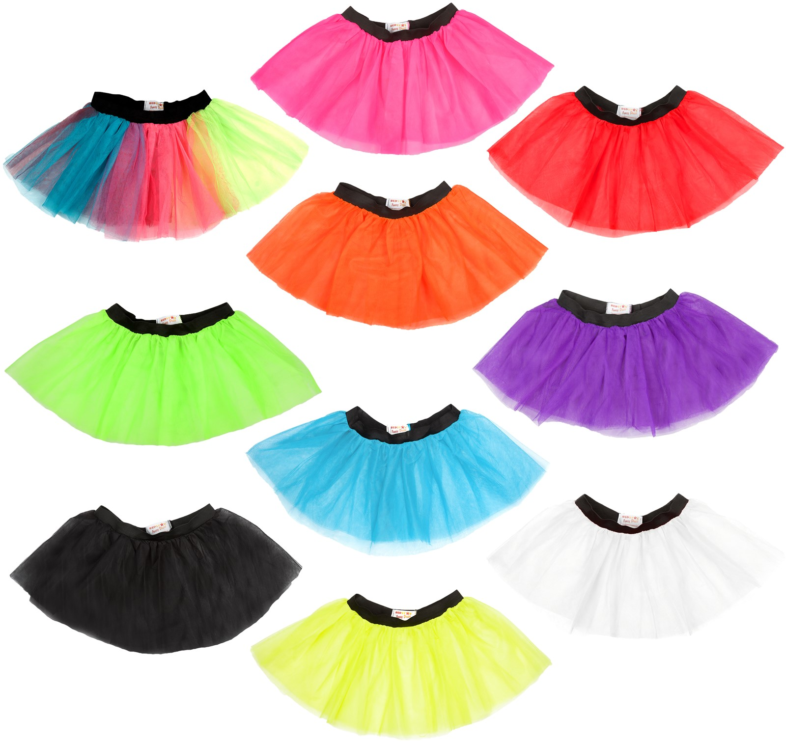 HIGH QUALITY NEON UV TUTU SKIRTS 1980/'s FANCY DRESS HEN PARTY COSTUME ADULT KID