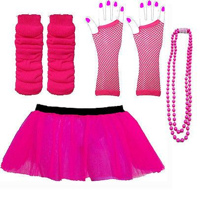 3-LAYER-TUTU-SKIRTS-NEON-LEG-WARMERS-GLOVES-BEADS-1980S-FANCY-DRESS-HEN-PARTY