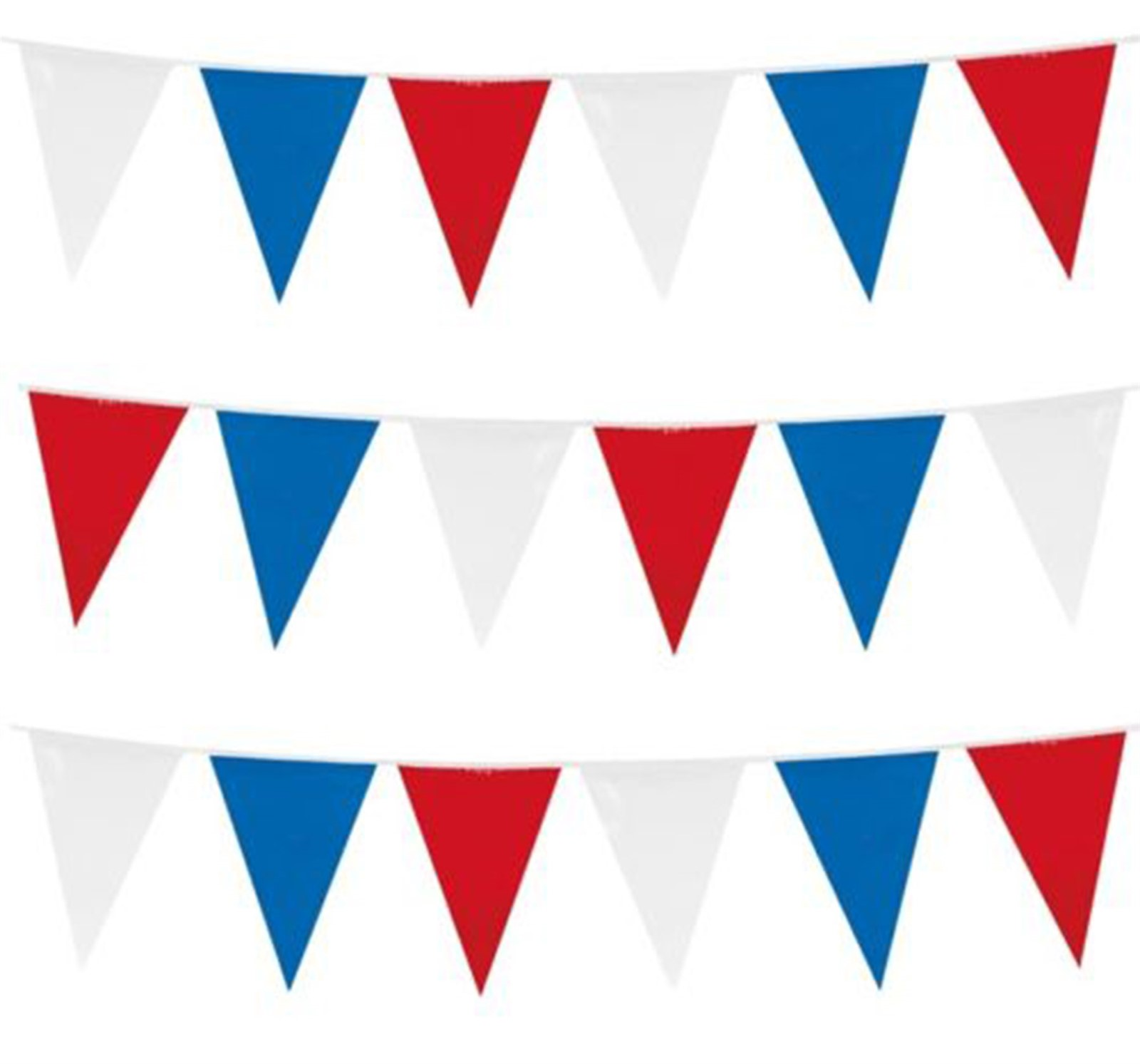 10m 32ft Red White And Blue Bunting Garland Party Event