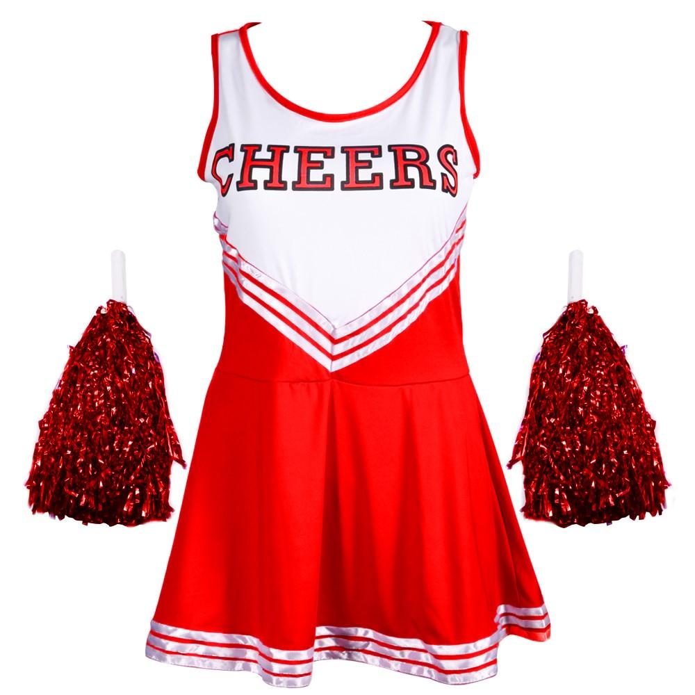 CHEERLEADER FANCY DRESS OUTFIT HIGH SCHOOL MUSICAL UNIFORM ...