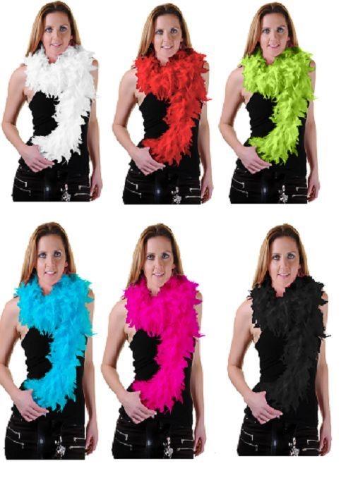 Pluma-Boa-Gallina-Noche-Fiesta-Accesorio-Gatsby-Anos-20-Fancy-Dress-Fluffy-Burlesque