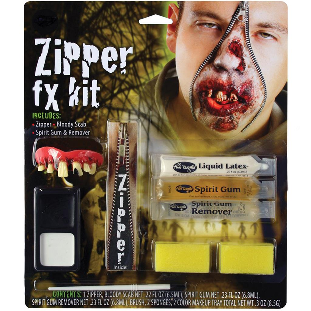 Zipper Make Kit Fake Zip Zombie Wound Cut Gore Scar