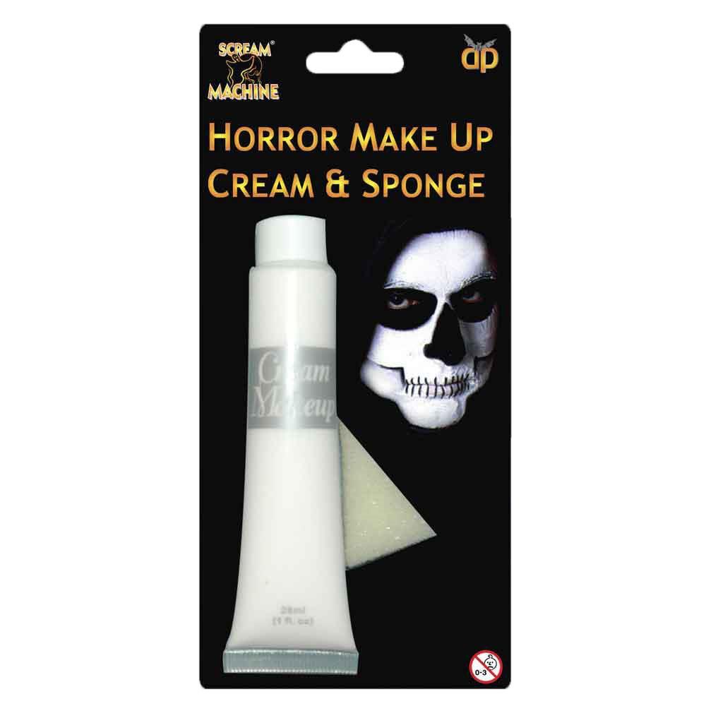 Blanc halloween maquillage peinture visage corps cr me squelette vampire ebay - Maquillage blanc visage ...