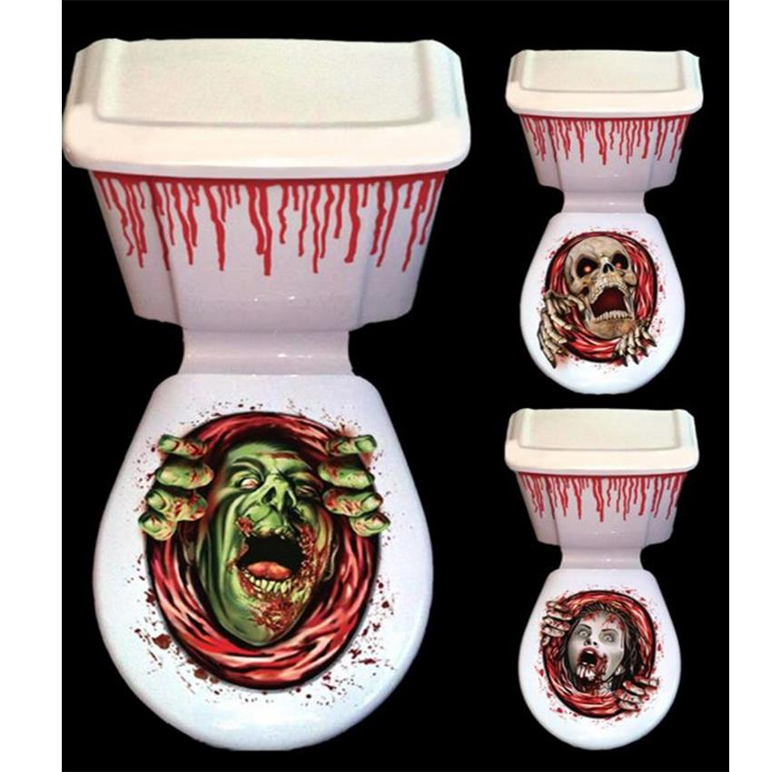 HALLOWEEN TOILET SEAT COVER HORROR FANCY DRESS HORROR HOUSE PARTY DECORATION