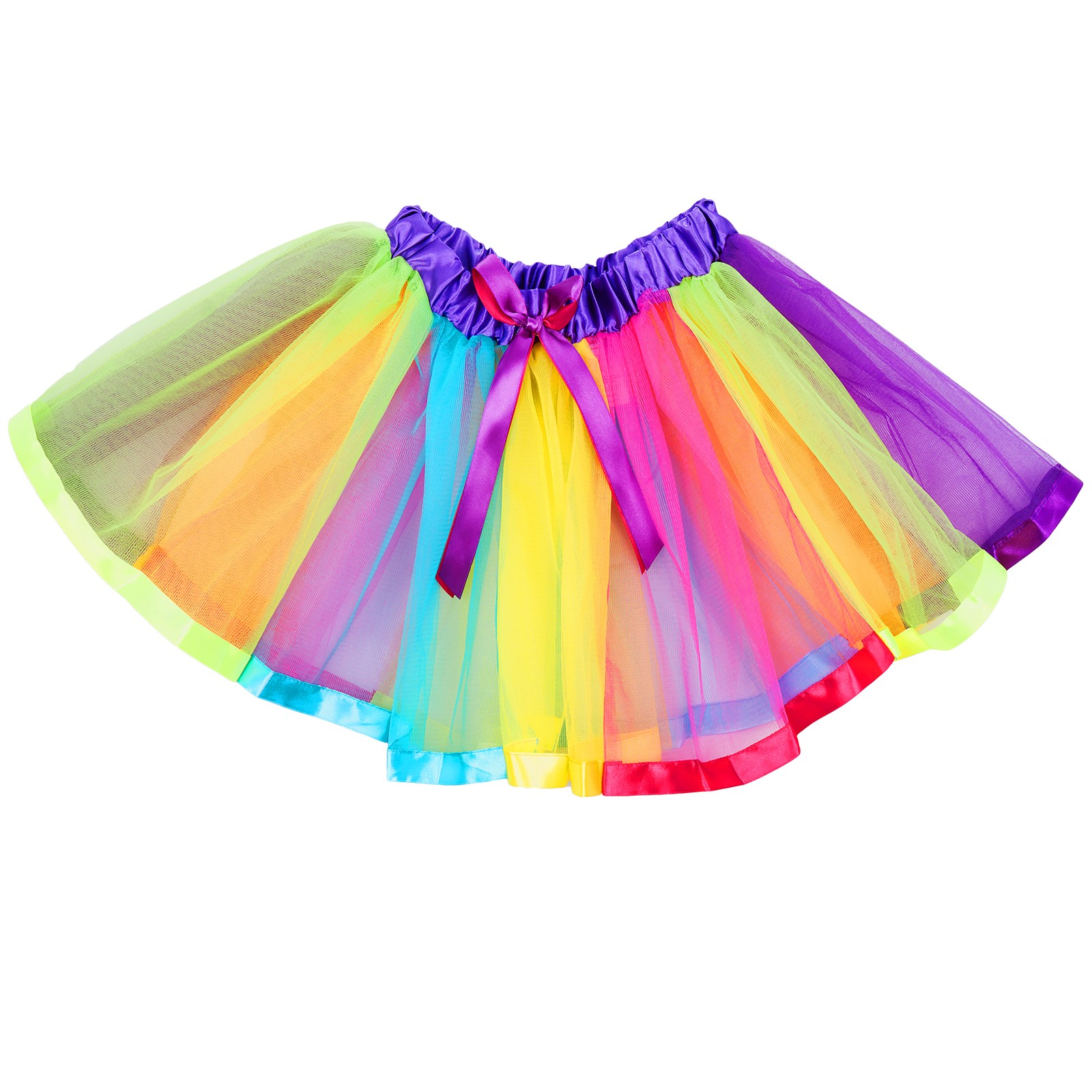 GIRLS RAINBOW TUTU SKIRT MULTICOLOURED PETTICOAT KID/'S COSTUME BALLET DANCE UK