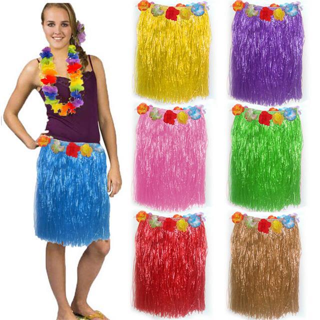 ca89251091b3 Details about HAWAIIAN GRASS SKIRTS SUMMER HULA ALOHA PARTY GARLAND FANCY  DRESS