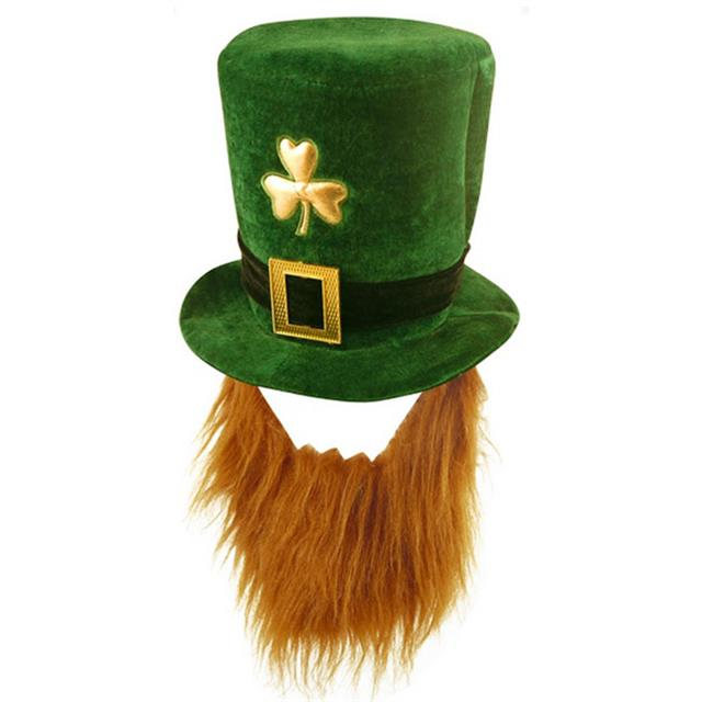 ST-PATRICKS-DAY-FANCY-DRESS-LEPRECHAUN-GREEN-HAT-CLOVERS-GLASSES-IRISH-WIG-PAINT