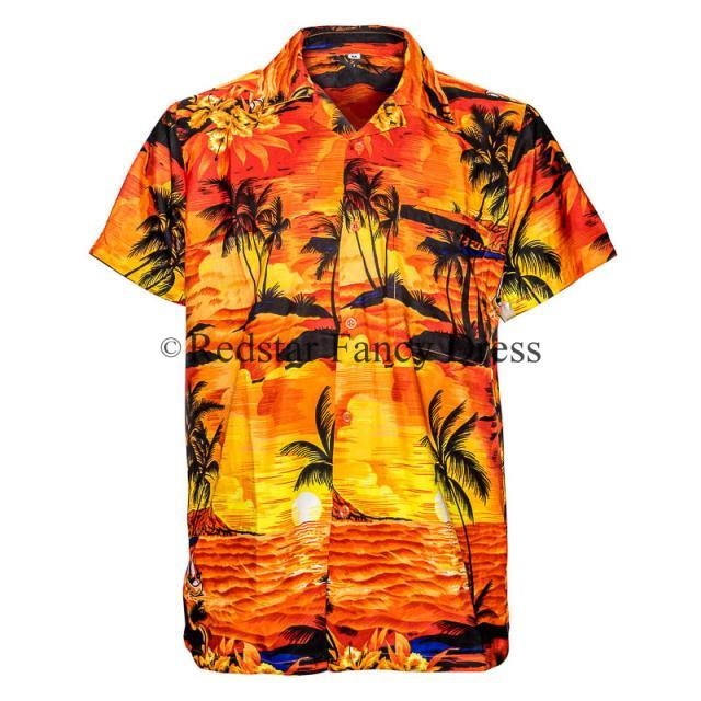 mens hawaiian shirt aloha hawaii stag sunset holiday beach