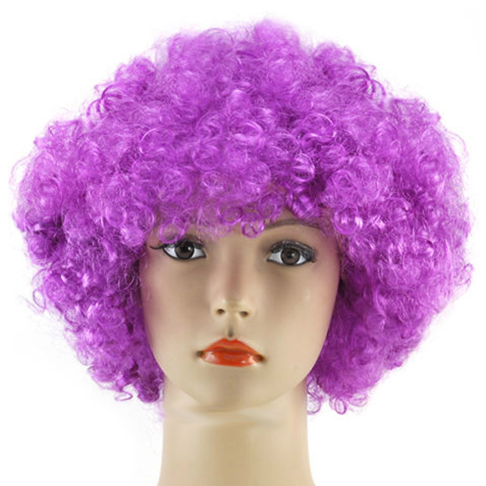 Curly Afro Wig Multi Colour Party Clown Funky Disco Mens