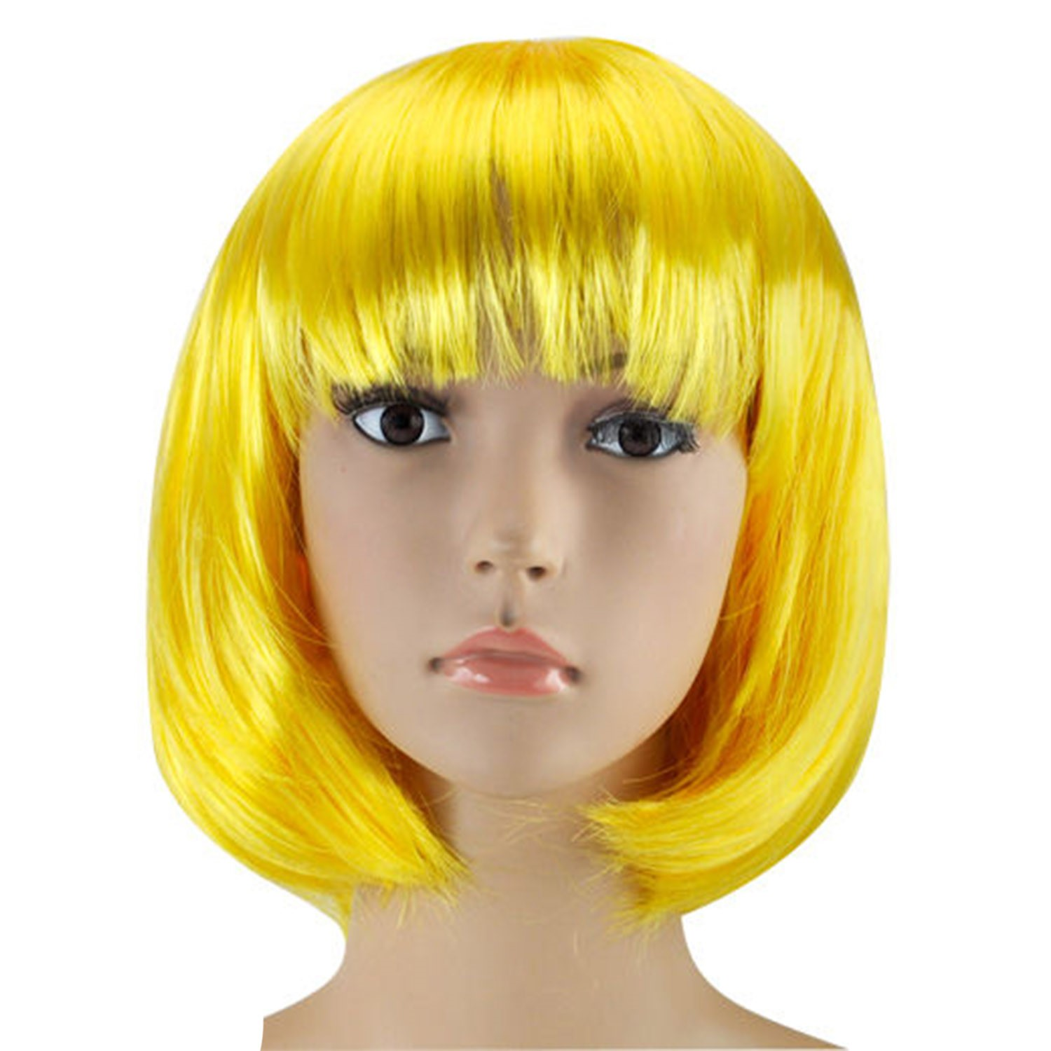 WOMENS LADIES SHORT BOB WIG FANCY DRESS COSPLAY WIGS POP ...