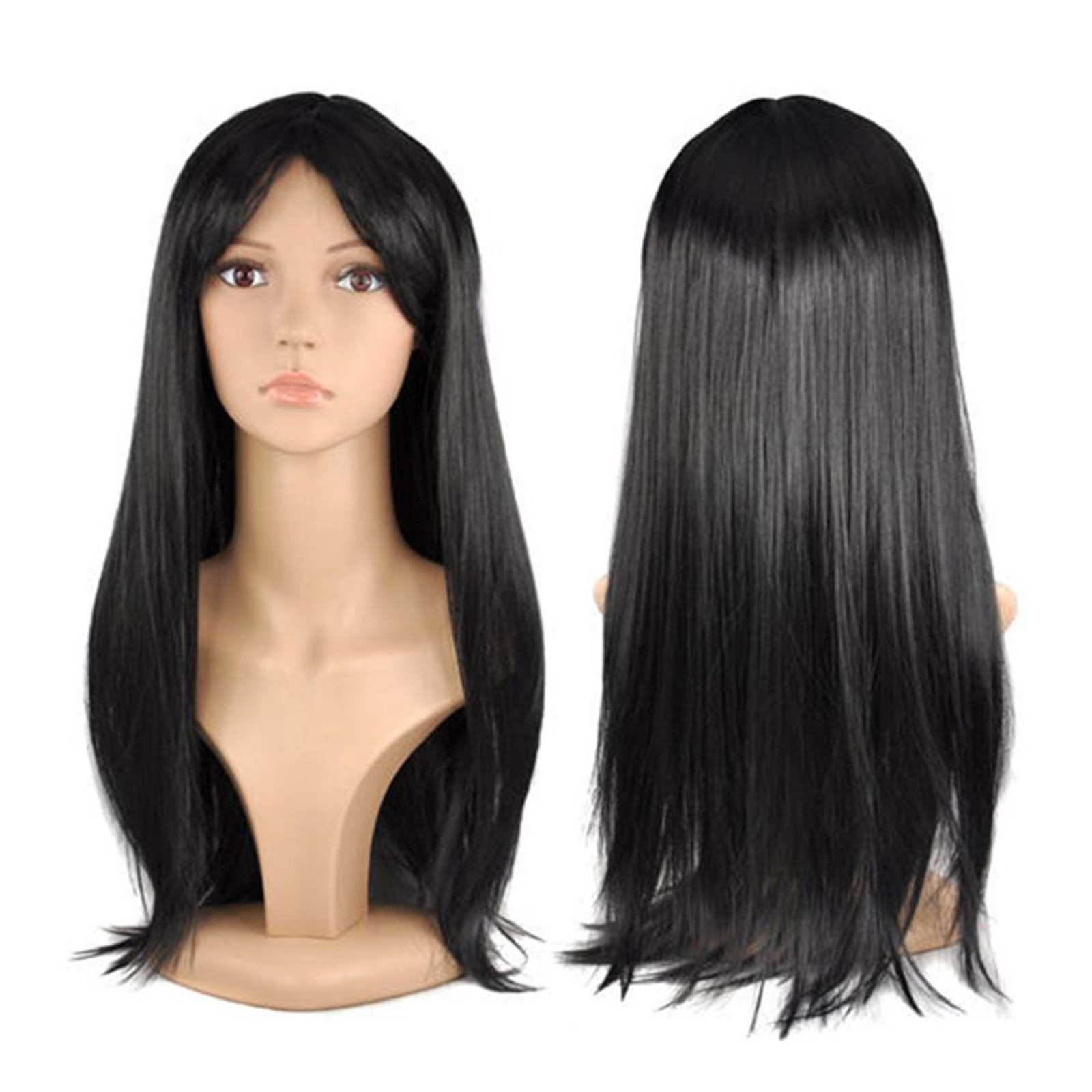 "WOMENS LADIES LONG 19"" STRAIGHT WIG FANCY DRESS COSPLAY WIGS POP ..."