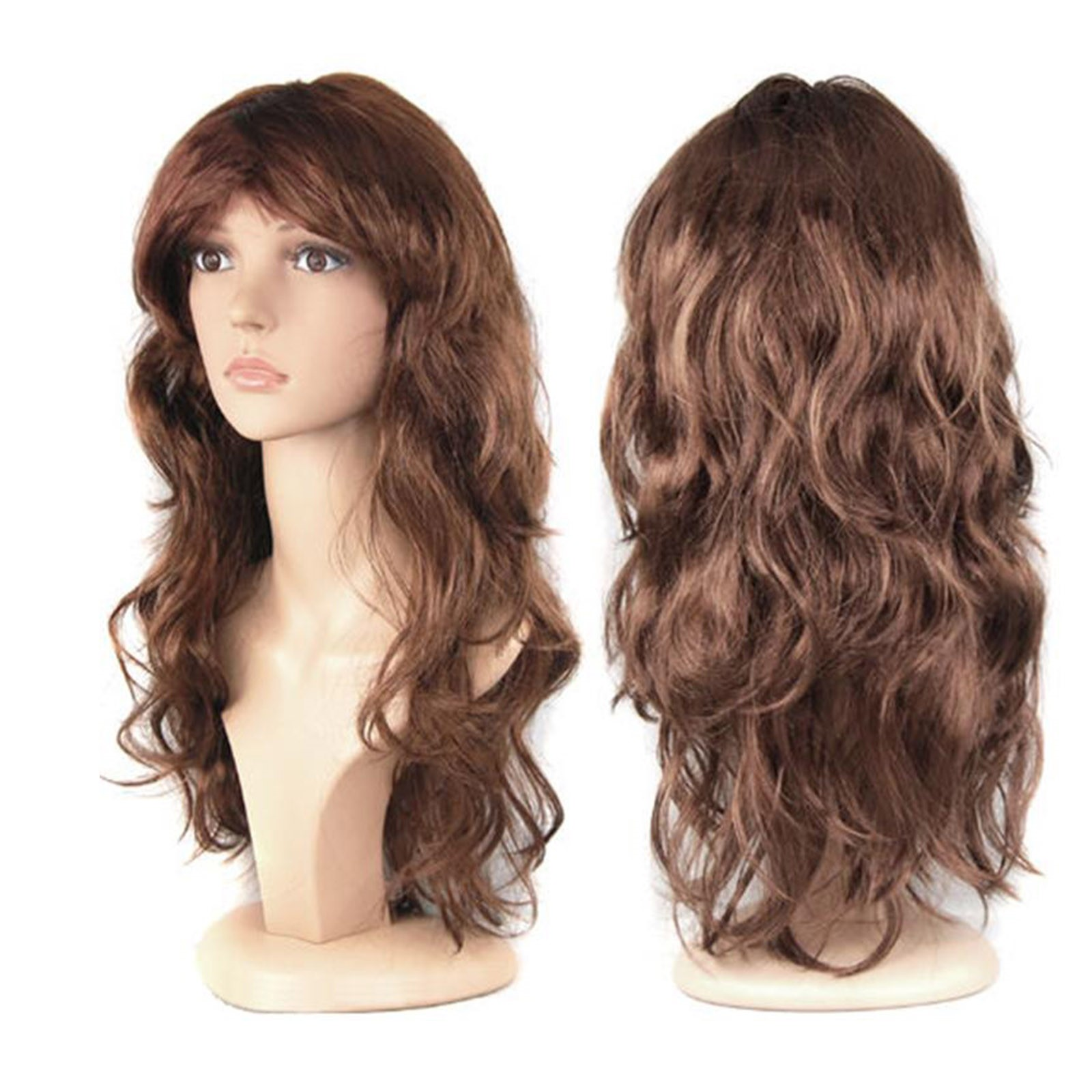 WOMENS LADIES LONG WAVY CURLY FANCY DRESS COSPLAY WIGS POP PARTY ...