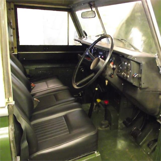 Land Rover Series 2 2a Amp 3 Black Deluxe Vinyl Front Seats