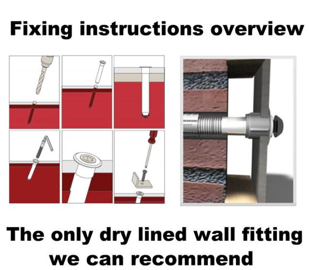 dot dab extra strong wall fixing anchors x 6 m6 ebay. Black Bedroom Furniture Sets. Home Design Ideas