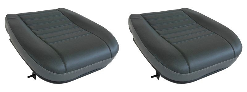 VINYL TWILL PAIR LAND ROVER DEFENDER DRIVER /& PASSENGER OUTER SEAT BASES