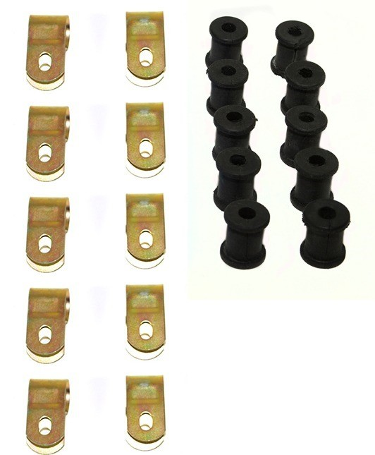 LAND ROVER SERIES REAR BRAKE PIPE P CLIP /& RUBBERS x10 56666 /& 6860L