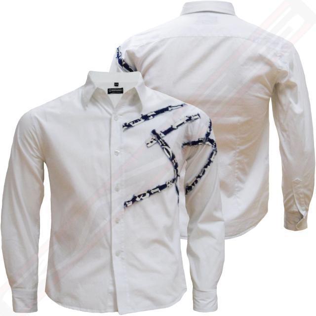 Chemise-garcon-a-rayures-denim-EMPORIO-034-034-COLLIER-junior-enfants-chemise-a-manches-longues