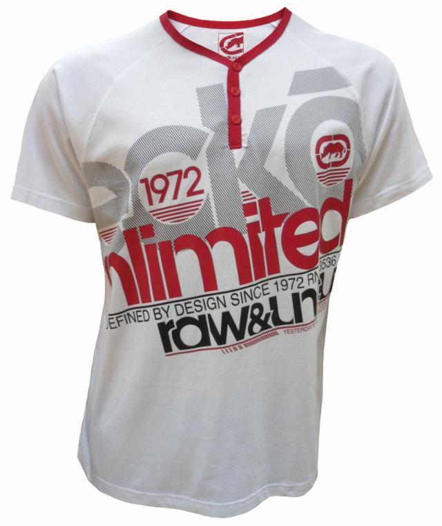 M L /& XL Mens ECKO Unltd CRISS CROSS graphic style short sleeve t-shirt SIZE S