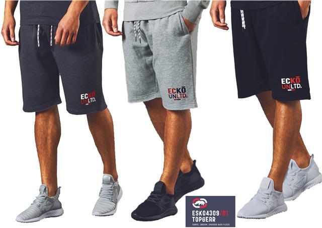 Mens Ecko UNLTD Shorts Sweat Gym Fashion Jogging Bottom Fleece Short  LONGCROSS