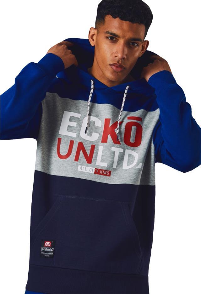 Mens ECKO UNLTD Fleece Sweatshirt Casual Sports Track Top Overhead COURSE S-XXL
