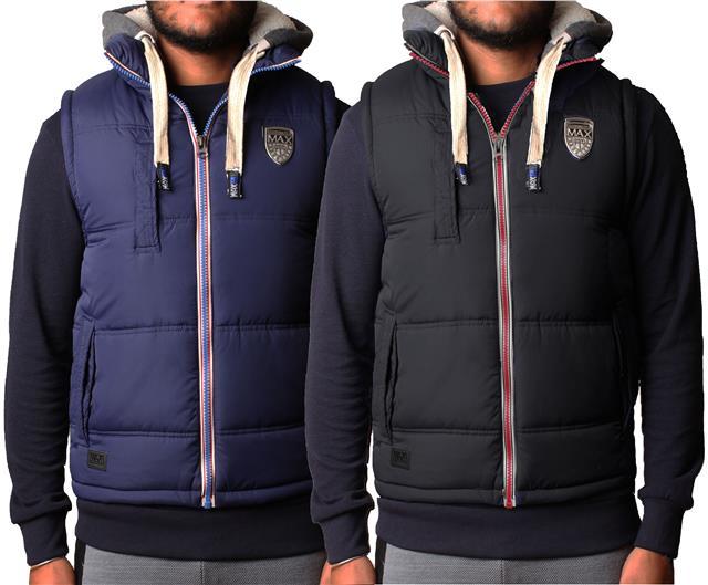 Mens Gilet Bodywarmer Max Edition Hoodie Contrast Hood Sleeveless Jacket  VM2111   eBay