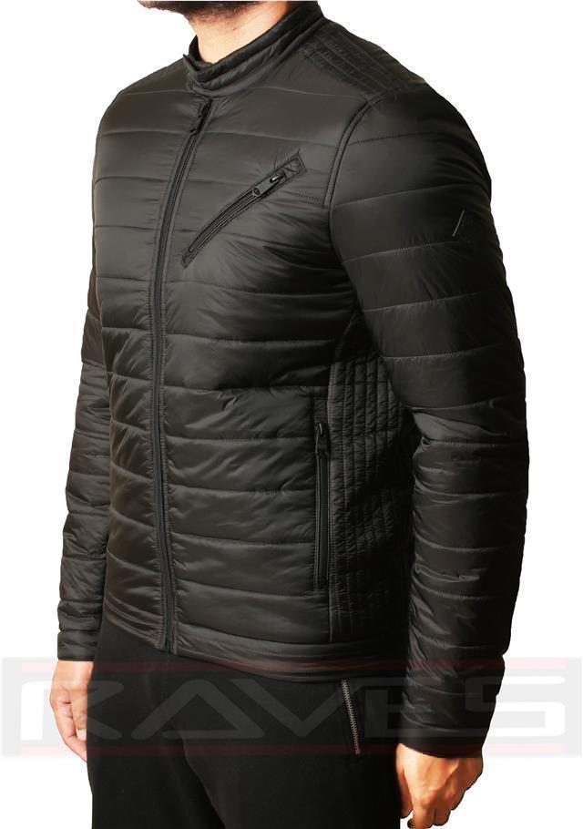 Mens-Threadbare-Padded-Quilted-Bomber-Biker-Jacket-Coat-Warm-Winter-MONGREL thumbnail 3
