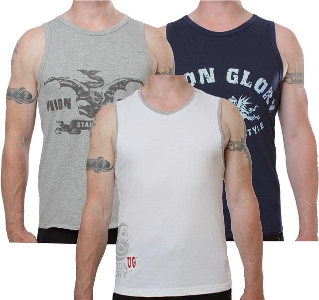Mens-Urban-Glory-crew-neck-cotton-vests-sleeveless-t-shirts-3-pack