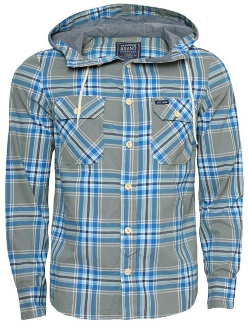 Mens-AMBROSE-long-sleeved-hooded-collar-shirts-6-variation
