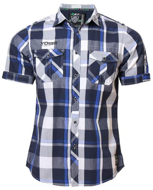 New mens dissident mh 27621 casual short sleeve check for New look mens shirts